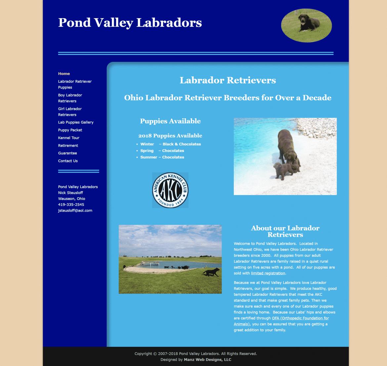 Pond Valley Labradors Ohio Labrador Retriever Breeders for Nearly 2 Decadeswebsite image